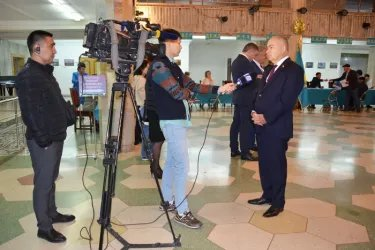Координатор группы наблюдателей от МПА СНГ Ильяс  Умаханов ответил на вопросы журналистов
