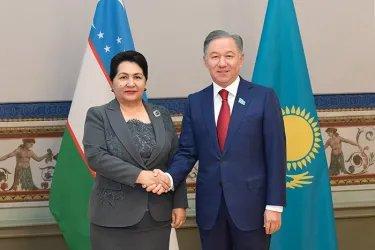 Встреча Нурлана Нигматулина с Танзилой Нарбаевой