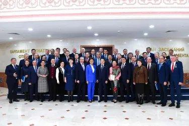 В Сенате Парламента Республики Казахстан церемонию награждения провела Председатель палаты Дарига Назарбаева