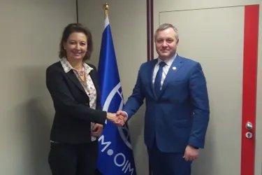 Встреча Дмитрия Кобицкого с заместителем Генерального директора Международной организации по миграции Лаурой Томпсон