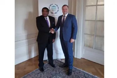 Встреча Дмитрия Кобицкого с Генеральным секретарем Межпарламентского союза Мартином Чунгонгом