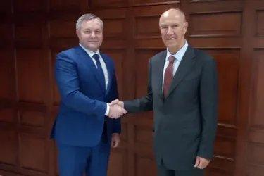 Встреча Дмитрия Кобицкого с Генеральным директором Всемирной организации интеллектуальной собственности Фрэнсисом Гарри