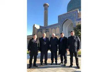 Орозбек Алыбаев, Сайдолимжон Джураев, Анвар Артыков, Айк Чилингарян и Нурбек Сатвалдиев на мониторинге выборов в Самарканде