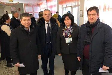 Сайдолимжон Джураев, Айк Чилингарян и Нурбек Сатвалдиев на мониторинге выборов в Самарканде