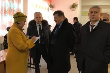Орозбек Алыбаев, Сайдолимжон Джураев и Анвар Артыков на мониторинге выборов в Самарканде