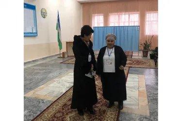 Гульмира Исимбаева на избирательном участке