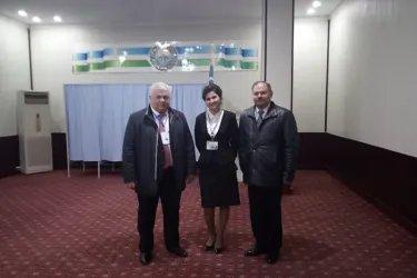 Казбек Тайсаев и Виктор Когут на избирательном участке