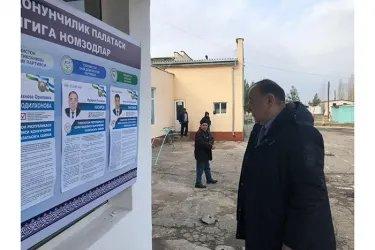 Ербулат Мукаев на избирательном участке