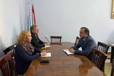 В штабе Народно-демократической партии Таджикистана