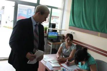 Посещение участковой избирательной комиссии Самухского района