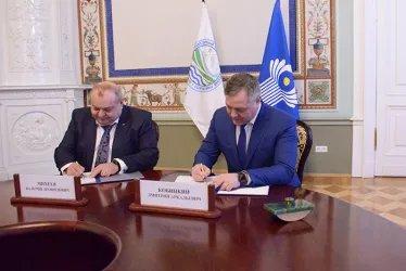 Подписание соглашения о сотрудничестве между Секретариатом Совета МПА СНГ И РГГМУ, 17.03.2020