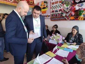 Международные наблюдатели от МПА СНГ ведут мониторинг выборов в Маджлиси намояндагон Маджлиси Оли Республики Таджикистан (1 марта 2020 года)