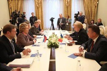 Встреча Валентины Матвиенко с Зинаидой Гречаный