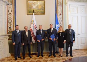 Подписание соглашений о сотрудничестве между Секретариатом Совета МПА СНГ и РАНХиГС, 22.07.2020