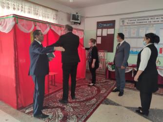 Посещение окружной избирательной комиссии № 12 в городе Турсунзаде
