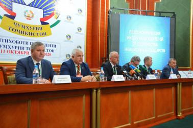 Пресс-конференция Миссии наблюдателей от СНГ на выборах Республики Таджикистан, 12.10.2020