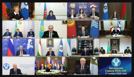 Заседание Совета МПА СНГ_27.11.2020