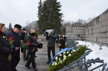 Торжественно-траурная церемония на Пискаревском мемориальном кладбище, 27.01.2021