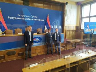 Международные наблюдатели от МПА СНГ ведут мониторинг выборов в Народную скупщину Республики Сербия, 21.06..2020