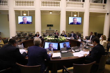 Заседание Постоянной комиссии МПА СНГ по политическим вопросам и международному сотрудничеству (8 октября 2020 года)