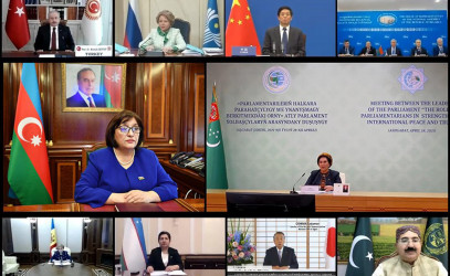 Председатель Милли Меджлиса Азербайджанской Республики Сагиба Гафарова