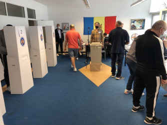 Наблюдение на зарубежных участках на выборах в Парламент Молдовы. 11 июля в Гамбурге