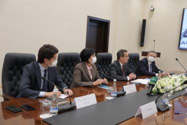 Наблюдатели от МПА СНГ ведут долгосрочный мониторинг выборов Президента Узбекистана. Встреча в ЦИК. 6 октября 2021