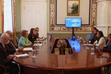 Встреча Валентины Матвиенко с Председателем Центральноамериканского парламента Фанни Каролиной Салинас Фернандес
