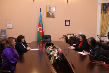 Встреча Сагибы Гафаровой с региональным директором структуры ООН женщины для государств Европы и Центральной Азии Алией Эль-Ясир