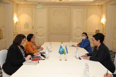 Встреча Танзилы Нарбаевой с региональным директором структуры ООН женщины для государств Европы и Центральной Азии Алией Эль-Ясир