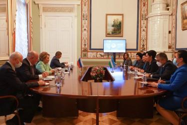 Встреча Валентины Матвиенко и Танзилы Нарбаевой