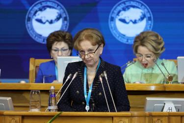 В Таврическом дворце состоялось пленарное заседание третьего Евразийского женского форума