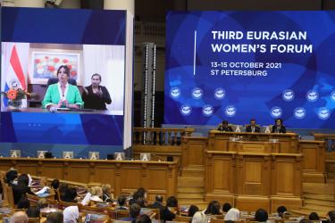 Диалог «Миссия женщин в развитии дипломатии мира и доверия». 14 октября 2021