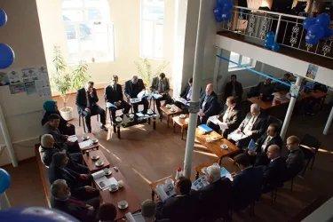 Встреча в предвыборном штабе Партии исламского возрождения Таджикистана