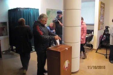 Избирательный участок в Кишиневе