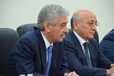 Встреча с представителями партии «Ени Азербайджан»