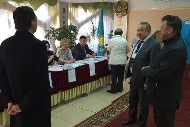 Наблюдатели от МПА СНГ посетили избирательные участки г. Алматы