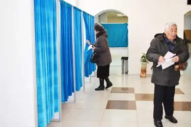 Наблюдатели от МПА СНГ посетили избирательный участок № 91