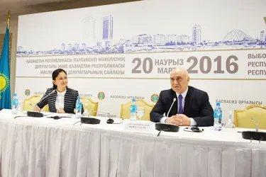 Координатор группы наблюдателей от МПА СНГ В. Алескеров ответил на вопросы журналистов