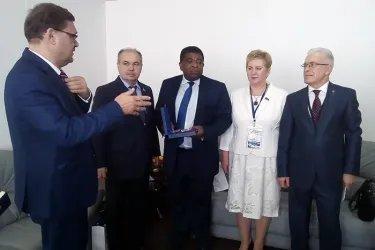 Встреча с Генеральным секретарем МПС Мартином Чунгонгом