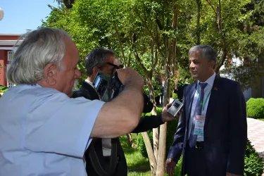 Встреча наблюдателей от МПА СНГ с представителями СМИ