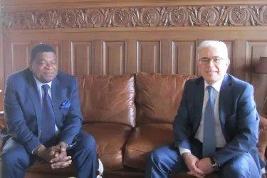 Встреча Генерального секретаря Совета МПА СНГ Алексея Сергеева с Генеральным секретарем МПС Мартином Чунгонгом
