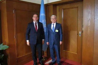 Встреча Генерального секретаря Совета МПА СНГ Алексея Сергеева с заместителем Генерального секретаря ООН Кристианом Фрисом Бахом
