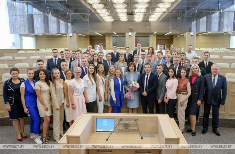 Состоялось первое заседание Молодежного парламента при Национальном собрании Беларуси