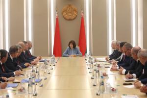Парламентарии — наблюдатели от МПА СНГ  встретились с руководством Национального собрания Республики Беларусь