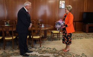 Valentina Matvienko and Mikhail Myasnikovich Discussed Issues of EAEU Development
