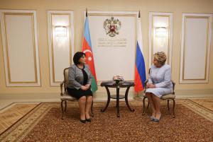 Валентина Матвиенко и Сахиба Гафарова обсудили вопросы межпарламентского взаимодействия