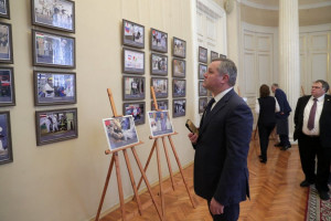 Dmitriy Kobitskiy Participated in Opening of Exhibition on Fight Against Pandemic