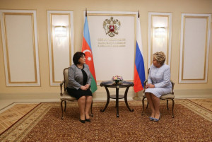 Valentina Matvienko and Sahiba Gafarova Discussed Inter-Parliamentary Cooperation