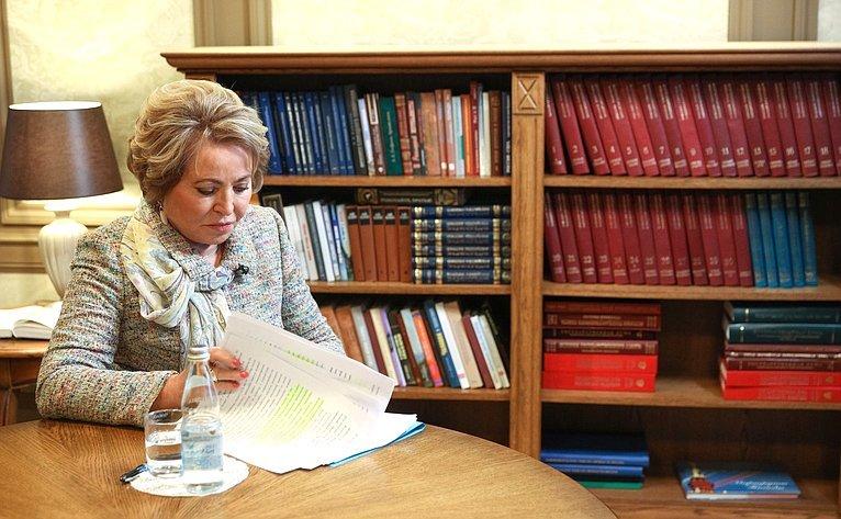 Валентина Матвиенко: В МПА СНГ мы прилагаем много усилий для создания единого правового пространства на территории Содружества